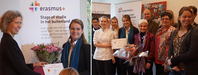 Maud van Overdijk is de trotse Erasmus+ Mobility Award winnares 2016
